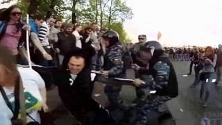 Путинские Фашисты в полицейских мундирах, против простого бедного народа России!!