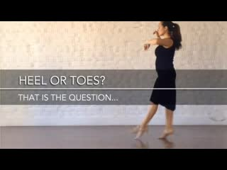 Tango Practice by Vanessa Gauch - Heel or toes that is the question .