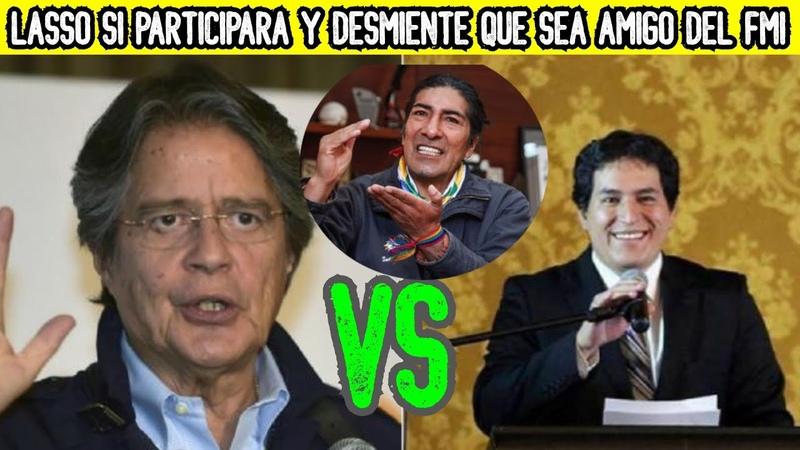Guillermo Lasso SI ESTARÁ en las ELECCIONES y ahora se BAJA de la CAMIONETA alegando NO al FMI