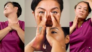 Самомассаж лица и шеи.  Подробное видео от Ажар Изатуллаевой