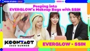 [KCON STUDIO X DIA TV] Peeping into EVERGLOW's Makeup Bags with SSIN | 에글이의 파우치를 열어라 with 씬님