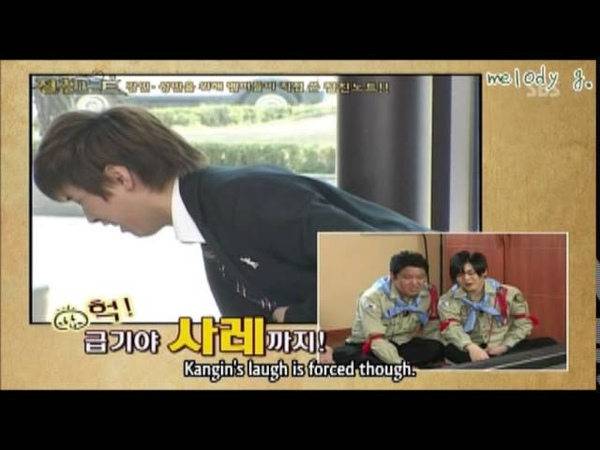 Super Junior's Funny Moment with Kangin Sungmin (Eng/Esp)