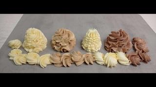 Масляный КРЕМ на сгущённом молоке СРАЗУ 4 РАЗНЫХ вкуса за 5 минут! Крем для тортов и пирожных
