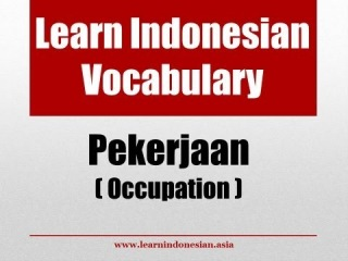 Learn Indonesian Vocabulary through Pictures - Occupations (Pekerjaan)