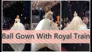 Ball Gwon丨Rpyal Train Wedding Dresss丨Spectacular Bridal Gown