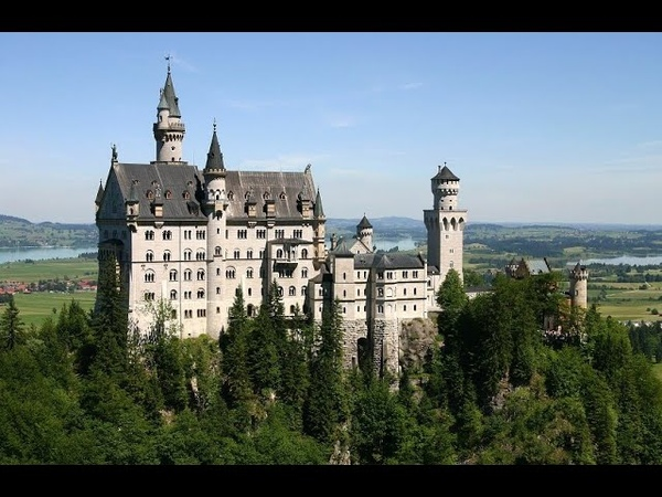 Бавария Замок Нойшванштайн Новый Лебединый Утес