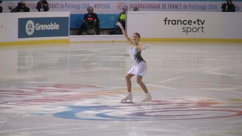Alena Kostornaia SP - ISU Grand Prix 2019 in Grenoble (Alt. angle) 60p