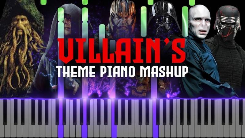 Villains Theme Epic Piano MashupMedley (Synthesia Piano Tutorial)SHEETSMIDI