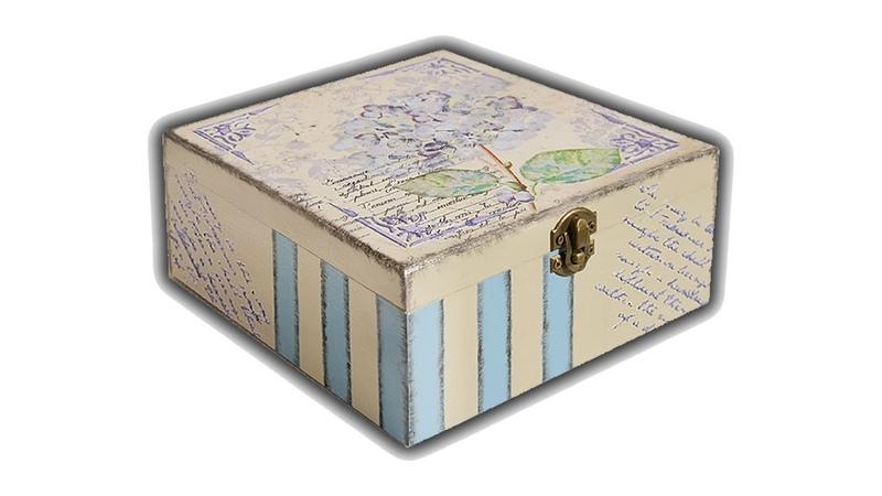 DECOUPAGE BOX WITH NAPKIN DIY HOW TO MADEA BEAUTIFUL BOX
