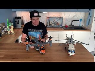 ЗАПРЕЩЕНКА!!! LEGO Technic 42113 - Bell Boeing V-22 Osprey VS 42052 - Heavy Lift Helicopter