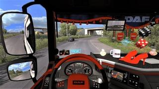 Euro Truck Simulator 2  - Daf XF Euro6 Tuning + Open Pipe Sound + Skin + Interior [Chereau]