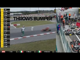 Luca Corberi Throws Bumper At Opposing Drivers In FIA KZ World Championship,Starts Brawl Post Race