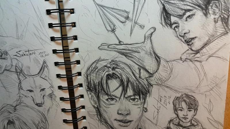 BTS fanart sketches by SakuTori