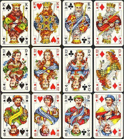 Король, дама, валет Существует история о том, как появилась привычная для нас колода с королями и дамами. Говорят, что изобрел ее в 1392 году Эакмен Грингоннер шут французского короля Карла VI