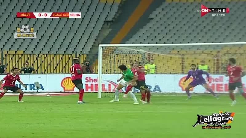 الشناوي يتألق ويتصدى لكرة جزاء الاتحاد السكندري عن طريق احمد رفعت