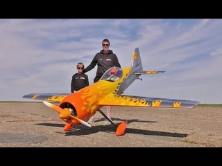 AWESOME SOUND MOKI 250cc 5 CYL RADIAL 40% SCALE CARF RC SUKHOI SU-31- ANDY AT LANGAR - 2021