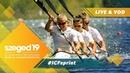 2019 ICF Canoe Sprint Paracanoe World Championships Szeged Hungary / D5: B Finals