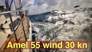 Amel 55 Zarya from Marinique to Saint Lucia wind 30 knots