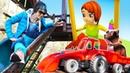 Мультик и Маша Капуки - Красный трактор и детская площадка - Веселая Школа и песенка про качели