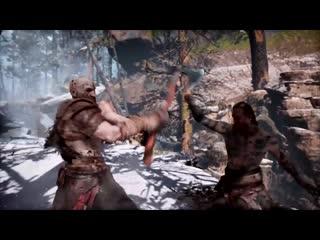 God of war kratos throw baldur