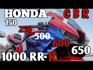 HONDA CBR LINEUP & Top speed модельный ряд мотоциклов хонда си би эр и максимальная скорость