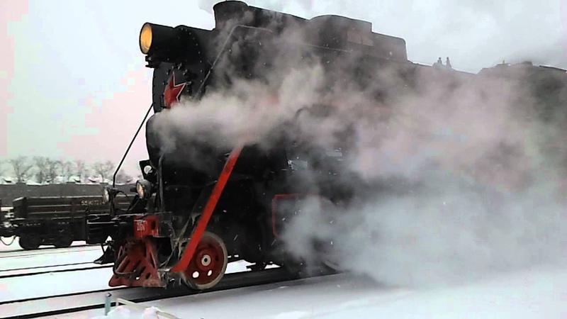 Прибытие паровоза на ст. Андроновка