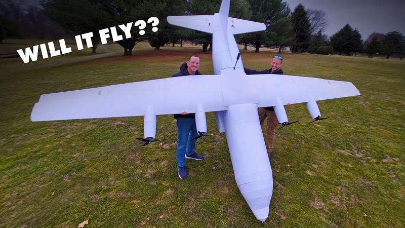 Will it fly 15 Foot C 130 Hercules Cargo Plane 😱