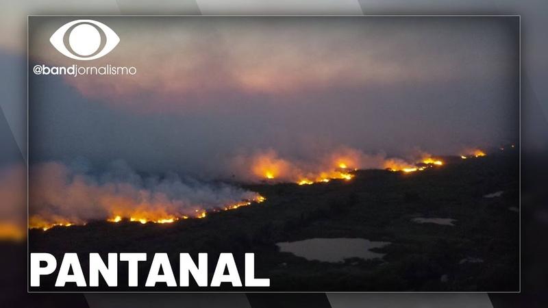 Pantanal fogo continua avançando na região