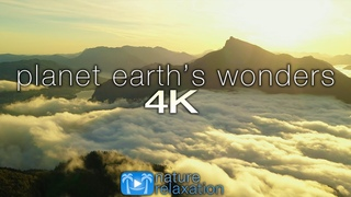 PLANET EARTH'S WONDERS in 4K: Nature Relaxation™ Journey Part V - Epic Drone Footage + Healing Music