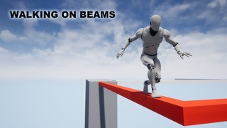 Создаем механику передвижения персонажа по балкам в UE4
