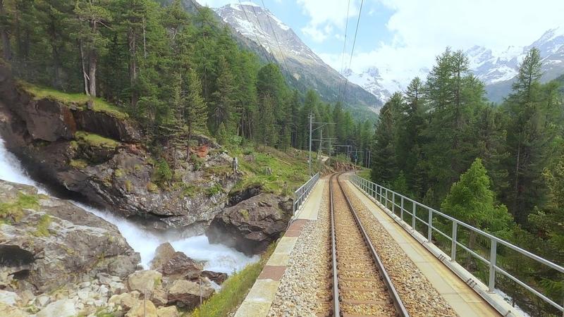 Tirano St Moritz 4K Cab ride Italy to Switzerland 2020
