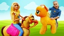 Музыкальные мультики с Май Литл Пони – Поём с куклой Барби детские песенки про лошадок! Весёлые игры