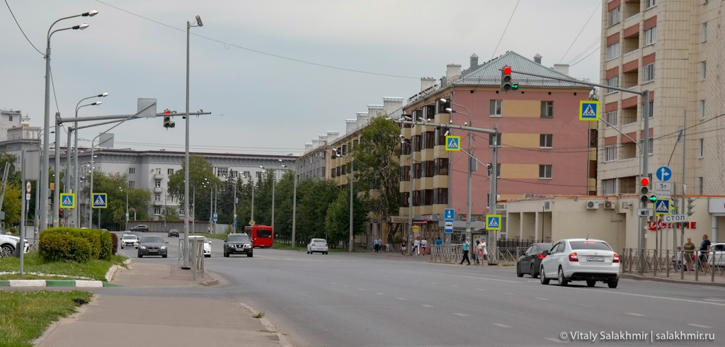 Улица Нурсултана Назарбаева в Казани