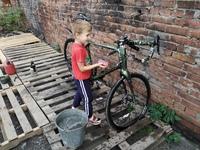 профессиональная мойка велосипеда в нашей мастерской!