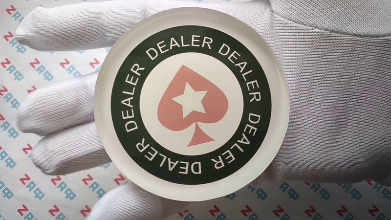 Кнопка дилера POKERSTARS OT-Style, 80×20 мм / PokerStars OT-Style Dealer Button, 80×20 mm