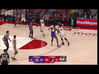 Lakers blazers highlights