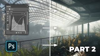 Exterior visualization - the post-production process in PS (Part 2)
