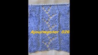 Ajourmuster  026Muster StrickenMuster fr PulloverMtzeTutorial Handarbeit Kreativ