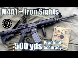 M4A1 Iron Sights (MA Tech) to 500yds: Practical Accuracy (FN15 Standard rifle)