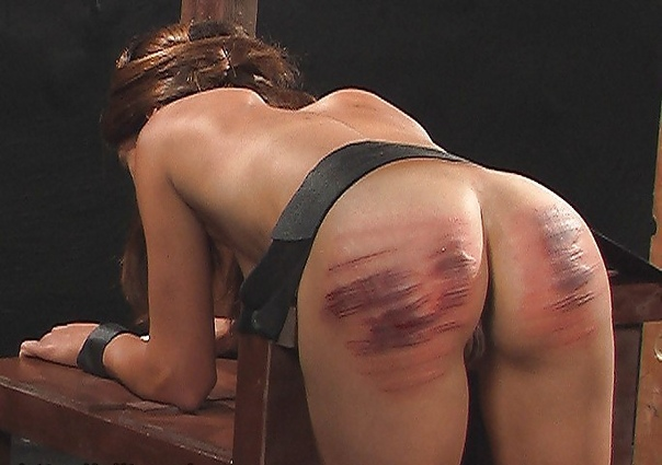 Tied up babe ass whipped and fucked in femdom
