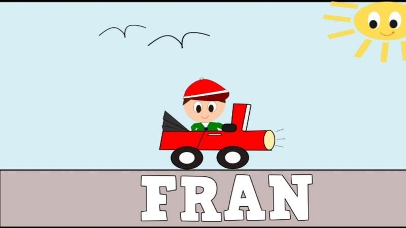 Aprender a Leer y Escribir FRAN Nombres de NIÑOS Vídeos para niños