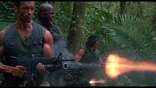 Хищник (1987) — Стрельба из 134 Minigun (Миниган) — Сцена из фильма 4/11