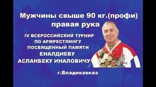 IV Всероссийский открытый турнир памяти Еналдиева Асланбека Иналовича Мужчины свыше 90кг.правая рука