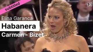 Opera Lyrics - Elina Garanca ♪ Habanera (Carmen, Bizet) ♪ English & French