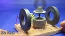 💦💦Создайте генератор свободной энергии с магнитами и эксперимент с двигателем постоянного тока💦💦