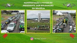 🇧🇷 Manifestantes fazem protesto a favor do presidente Jair Bolsonaro em Brasília.