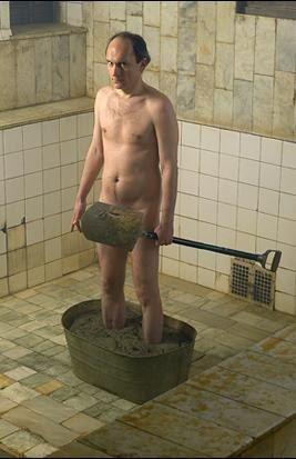 Тазик с цементом. В англоязычном мире имеет название «concrete boots». Ещё один вариант утопления. Считается основным методом казни провинившихся в чикагской мафии 30-х годов, но на самом деле