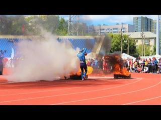 Участники Чемпионата МЧС России по пожарно-спасательному спорту соревновались в пожарной эстафете