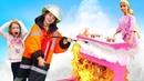Пожар в доме Барби - Барби мультфильмы про заботы по дому - Куклы для девочек