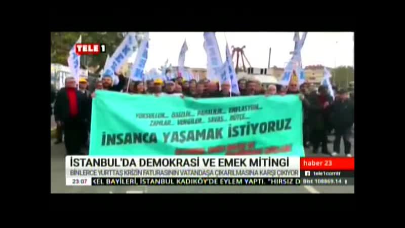 DEMOKRASİ VE EMEK MİTİNGİ. 8.12.2019. PZR.